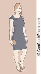 Vintage fashion woman