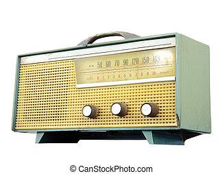 Vintage fashioned radio, clipping path