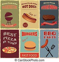 Vintage Fast Food Poster design