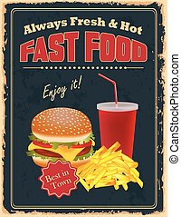 Vintage Fast Food poster