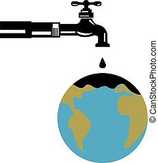 vintage-faucet-tap-water-dripping-GLOBE-RETRO - Retro style...