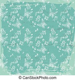 Vintage Fauna Seamless Pattern