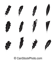 vintage feathers silhouette