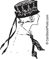 vintage female silhouette