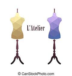 Vintage female tailor's mannequin.
