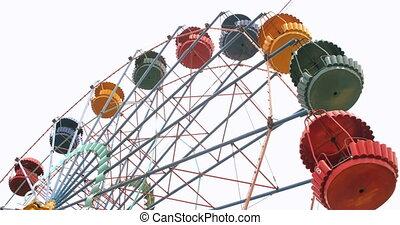 Vintage Ferris Wheel - Colorful vintage Ferris wheel...