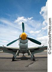 vintage fighter - vintage WW2 german fighter aircraft...