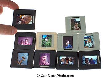 vintage film isolated on white background