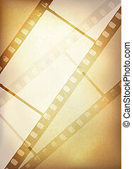Vintage film strip background, vector illustration, EPS10