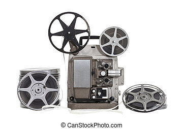 Vintage Films with Projector Isolated