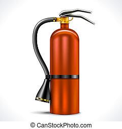 Vintage Fire Extinguisher isolated on white background....