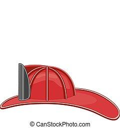 Vintage Firefighter Helmet - Illustration of a vintage...