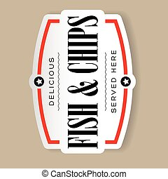 Vintage Fish and Chips sign lettering
