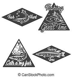 Vintage fishing emblems