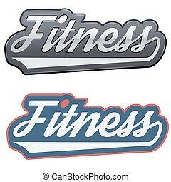 Vintage fitness label and tag. Vector Illustration isolated ...