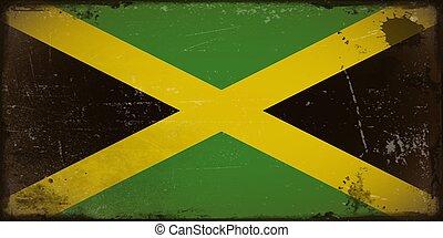 Vintage flag of Jamaica