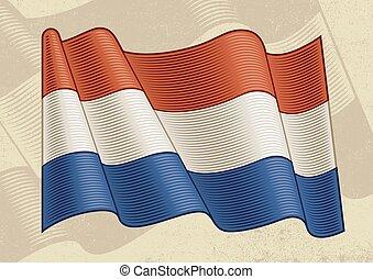 Vintage Flag Of Netherlands - Vintage flag of Netherlands in...