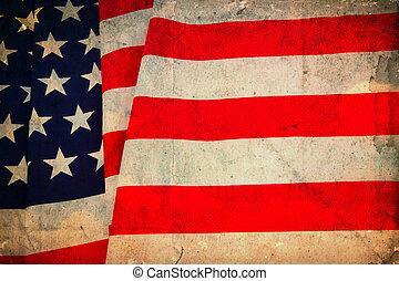 Vintage flag USA