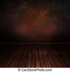 Vintage floor with wall. Art abstract background