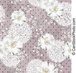 Vintage flora pattern