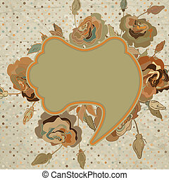 Vintage floral background. EPS 8