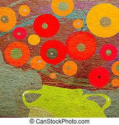 Vintage floral background for greeting