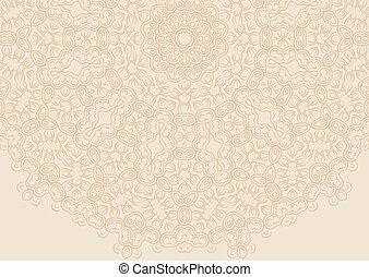 Vintage floral background in ethnic style.