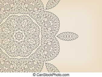 Vintage floral background in ethnic style