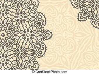 Vintage floral background in ethnic style. Vector.