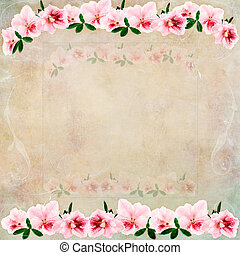Vintage Floral Background - Vintage background with flowers...