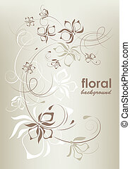 Vintage floral background, vector