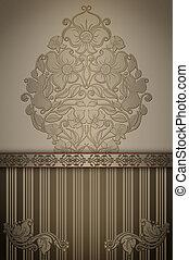 Vintage floral background with elegant border.