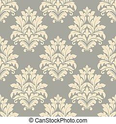 Vintage floral beige seamless pattern