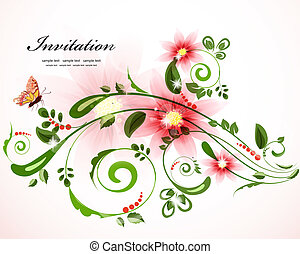 Vintage floral border for your design