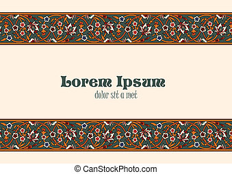 Vintage Floral border tiling elements.