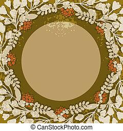 Vintage floral circular frame