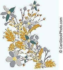Vintage Floral Elements Background