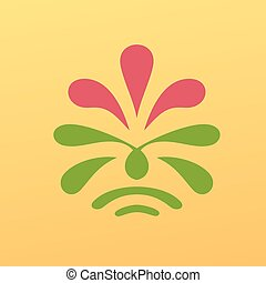 Vintage floral emblem design