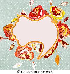 Vintage floral frame. EPS 8