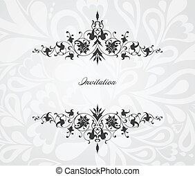 Vintage floral frame. Vector background