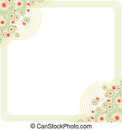 floral frame with copy space - vintage floral frame with ...