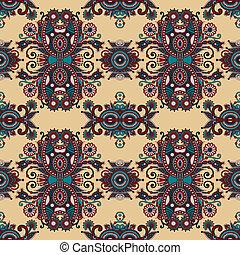 vintage floral paisley seamless pattern