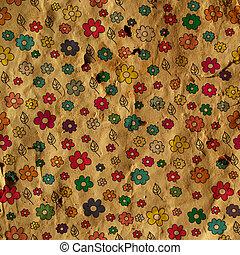 Vintage floral paper background illustration