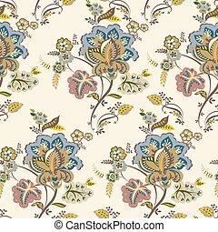 Vintage floral pattern. Autumn background