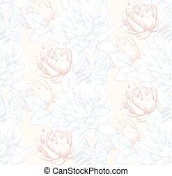 Vintage floral pattern background Vector illustration decors