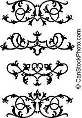 Vintage floral patterns and elements