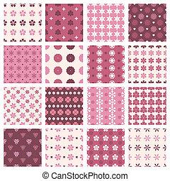 vintage floral patterns - set of seamless patterns in...