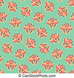 Vintage floral seamless pattern in vector. Colorful endless background with flowers.