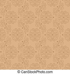 Vintage floral seamless pattern on beige