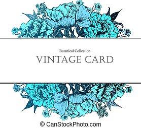 Vintage floral vector card